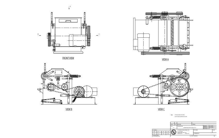 Roller Mill Technical Drawing